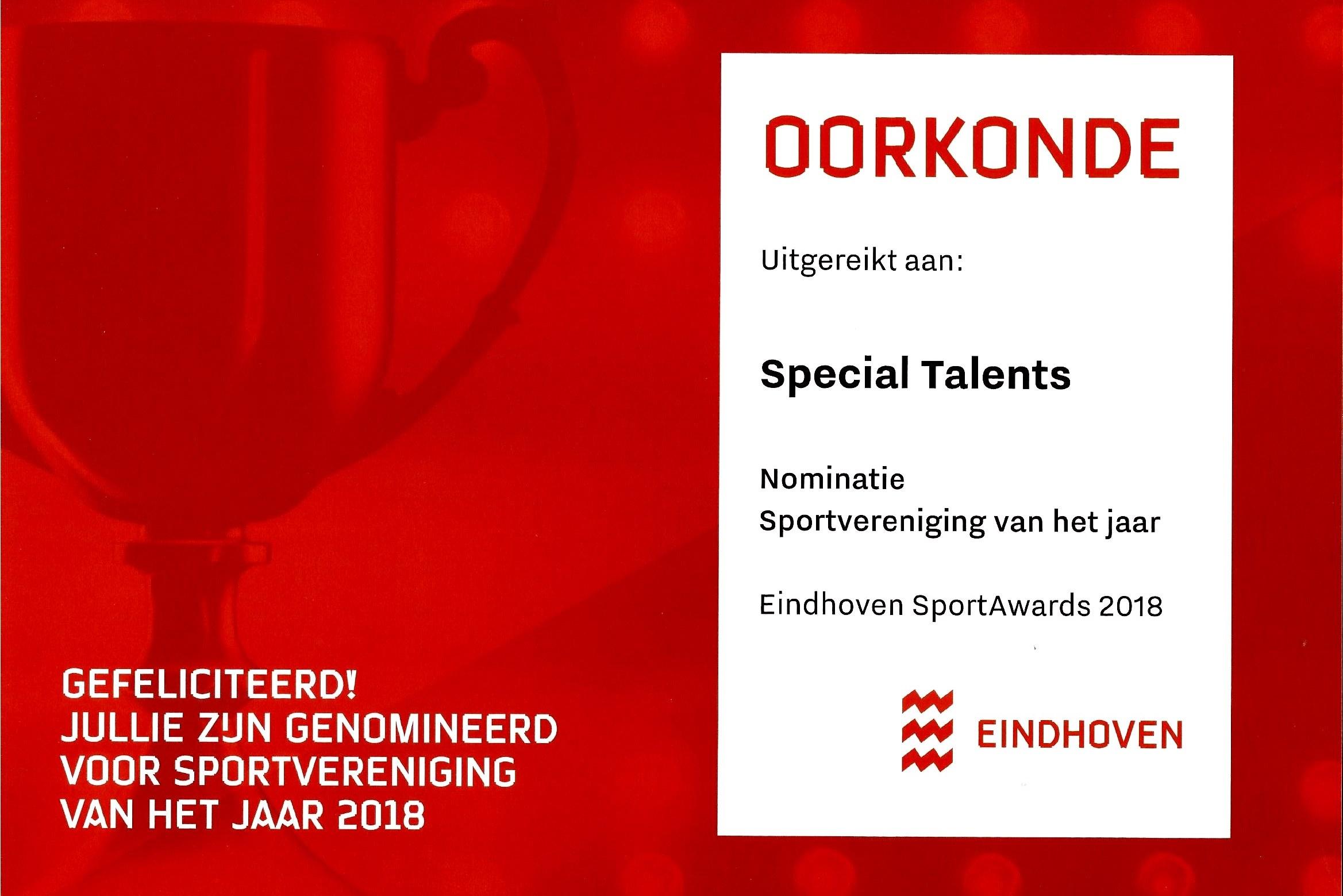 Genomineerd voor Sportvereniging van het jaar